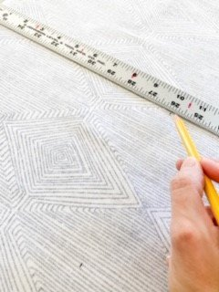 How to wallpaper with fabric