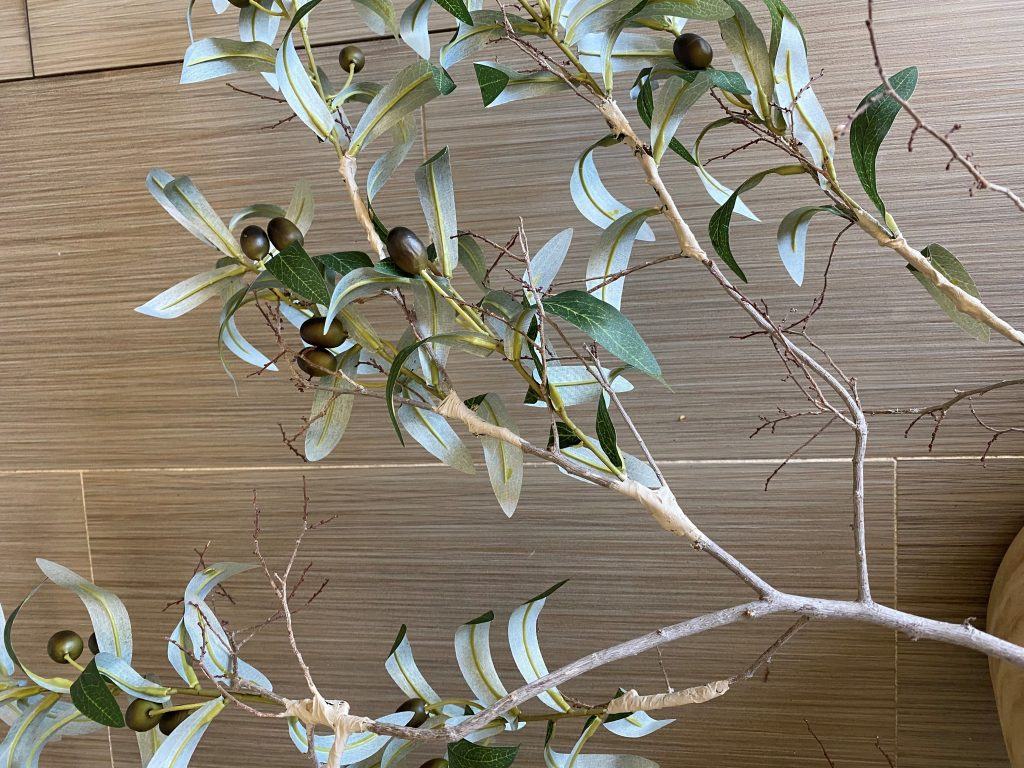 Quick and easy DIY faux olive tree