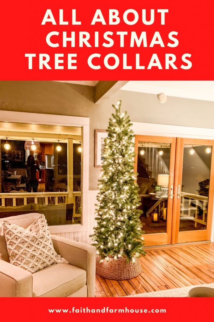 All About Christmas Tree Collars Faith And Farmhouse