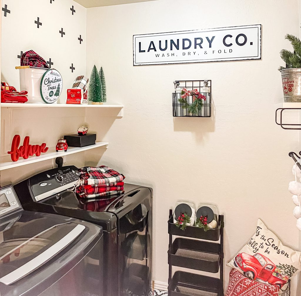 Laundry room makeover christmas edition