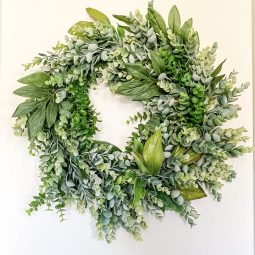 DIY all year wreath on a budget