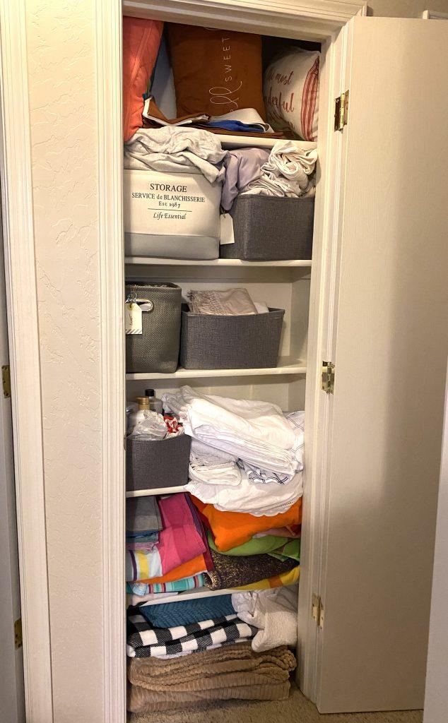 Linen Closet Makeover with Cricut