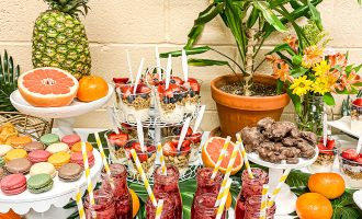 How to Throw a Tropical No Cook Brunch