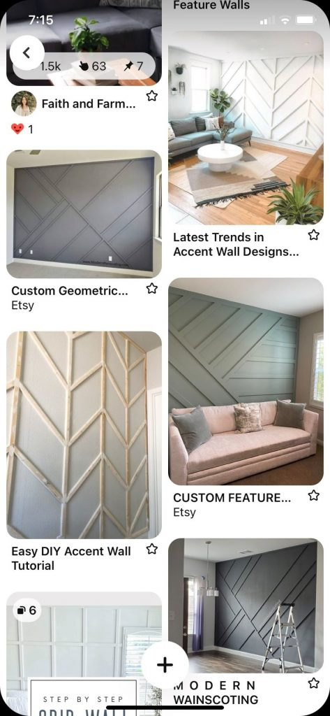 Pinterest board of accent walls